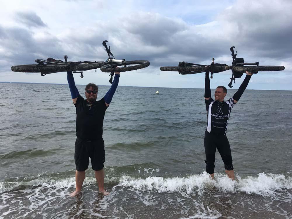 Zielankunft von Björn und Daniel bei der GST 18