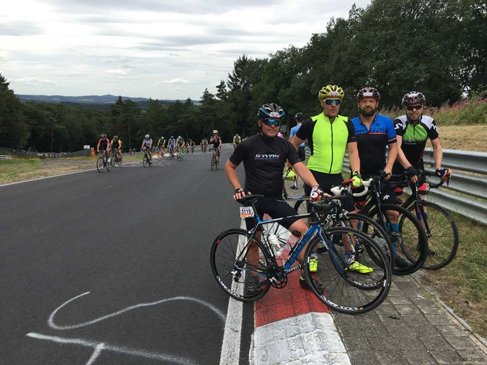 Rückblick und Ausblick für 2019: 4 der Juten Jungs bei Rad am Ring 2018