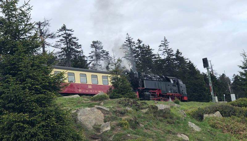 Brockenbahn kurz vorm Gipfel bei Harz 2019