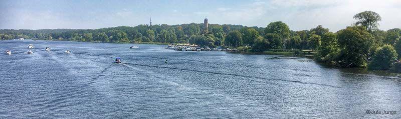 Überquerung der Havel oder des Tiefen See in Potsdam