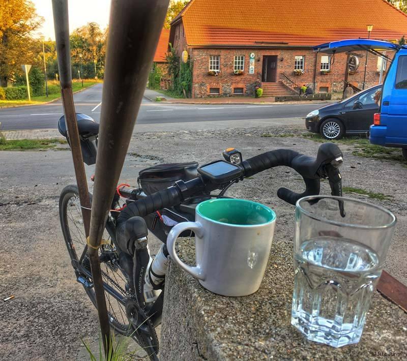letzte Pause, Kaffee in Prötzel
